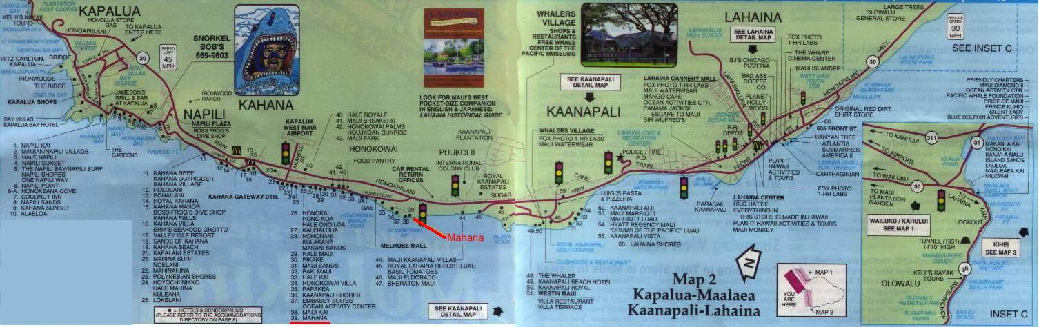 West Maui Condo Map